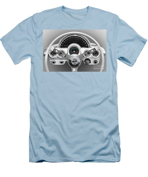 Men's T-Shirt (Slim Fit) featuring the photograph White C1 Dash by Dennis Hedberg