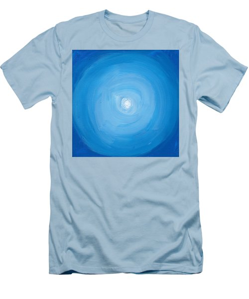 White Dot In Sea Of Blue Men's T-Shirt (Athletic Fit)