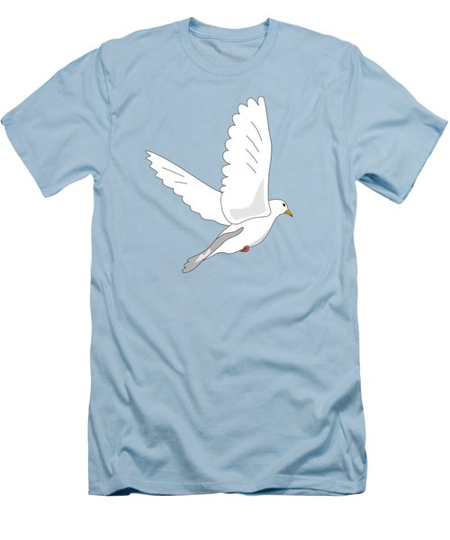 White Dove Men's T-Shirt (Slim Fit) by Miroslav Nemecek