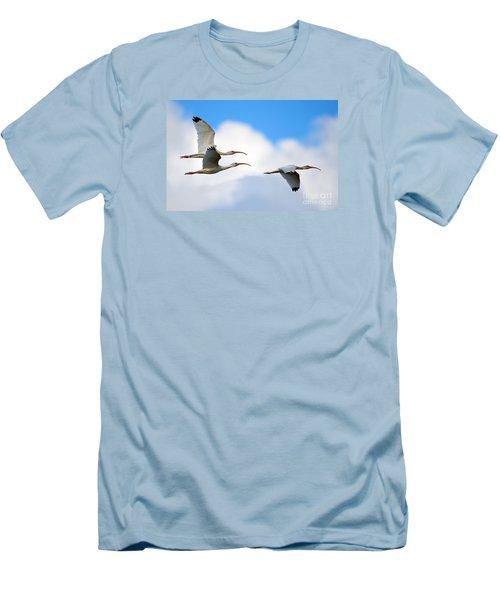White Ibis Flock Men's T-Shirt (Athletic Fit)