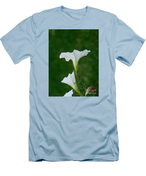 White Petunia Blossoms Men's T-Shirt (Athletic Fit)
