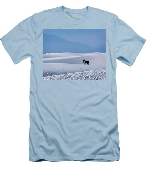 White Sands Horse And Rider #5b Men's T-Shirt (Athletic Fit)