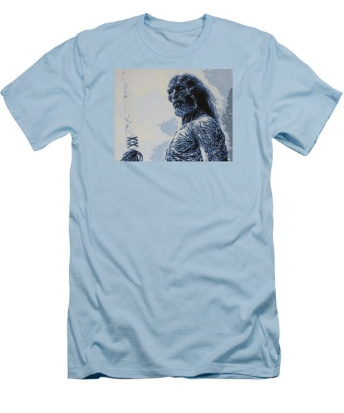 Men's T-Shirt (Slim Fit) featuring the painting White Walker by Luis Ludzska