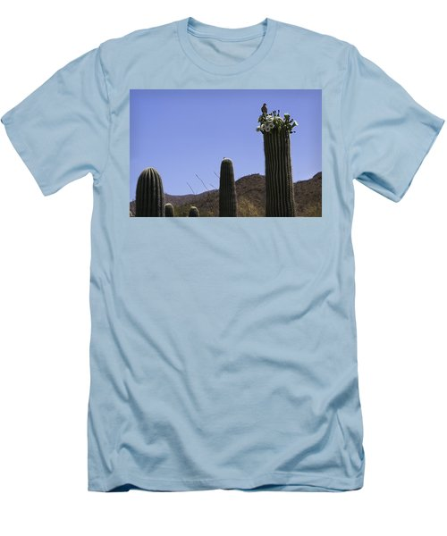 Men's T-Shirt (Slim Fit) featuring the photograph White Wing Dove by Lynn Geoffroy