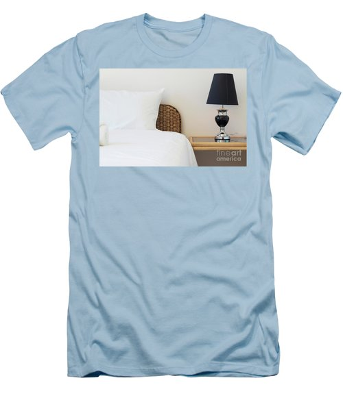 Men's T-Shirt (Slim Fit) featuring the photograph Wicker Rattan Bed by Atiketta Sangasaeng