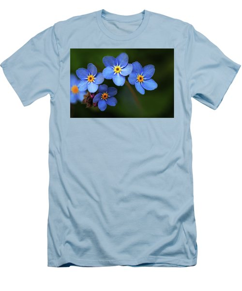 Wild Flower Forget-me-not Since The Middle Ages Symbolizes The Celestial Eye And Reminds You Of God Men's T-Shirt (Athletic Fit)