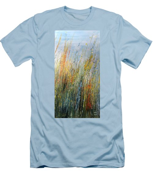 Wild Flowers And Hay Men's T-Shirt (Athletic Fit)