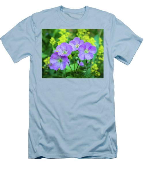 Wild Geranium Family Portrait Men's T-Shirt (Athletic Fit)