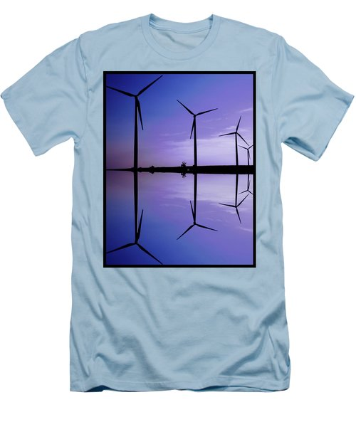Wind Energy Turbines At Dusk Men's T-Shirt (Athletic Fit)