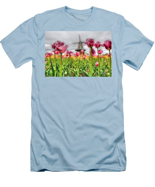 Men's T-Shirt (Slim Fit) featuring the photograph Windmill Island by Robert Pearson