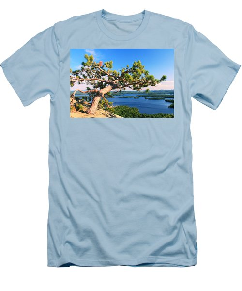 Windswept Pine On Rattlesnake Mountain Men's T-Shirt (Athletic Fit)