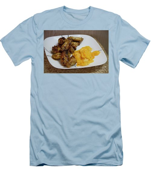 Winner Winner Chicken Dinner Men's T-Shirt (Slim Fit) by Anne Rodkin