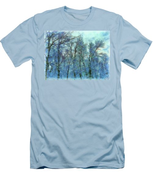 Winter Blue Forest Men's T-Shirt (Athletic Fit)