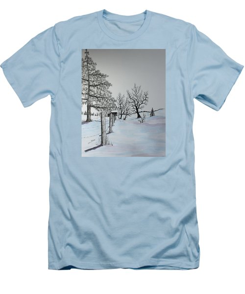 Winter Blues Men's T-Shirt (Slim Fit) by Jack G  Brauer