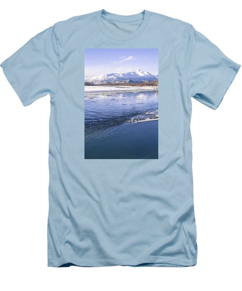Men's T-Shirt (Slim Fit) featuring the photograph Winter Blues by Michele Cornelius