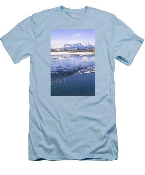 Winter Blues Men's T-Shirt (Slim Fit) by Michele Cornelius