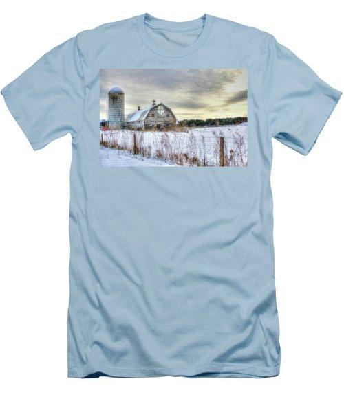 Men's T-Shirt (Slim Fit) featuring the digital art Winter Days In Vermont by Sharon Batdorf