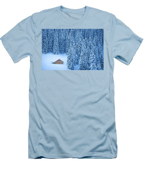 Winter Escape Men's T-Shirt (Slim Fit) by JR Photography