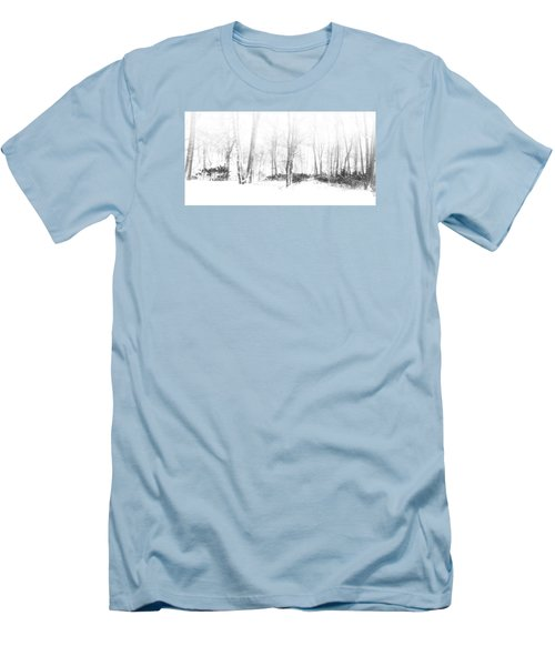 Snowy Forest - North Carolina Men's T-Shirt (Athletic Fit)