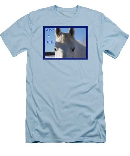 Winter Horse Christmas Men's T-Shirt (Slim Fit) by Deborah Moen