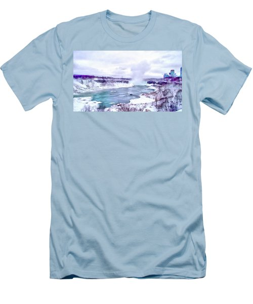 Winter In Niagara 1 Men's T-Shirt (Athletic Fit)