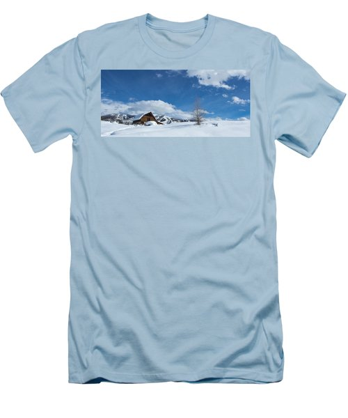 Winter In The Rockies Men's T-Shirt (Slim Fit) by Sean Allen