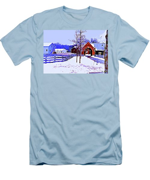 Winter In The Village Men's T-Shirt (Athletic Fit)