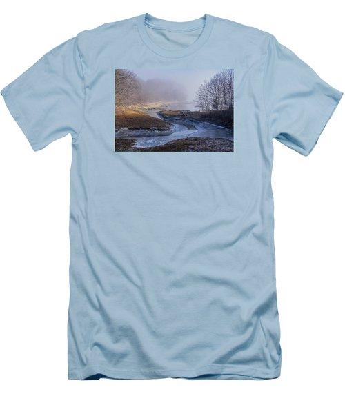 Winter Inlet Men's T-Shirt (Slim Fit) by Tom Singleton