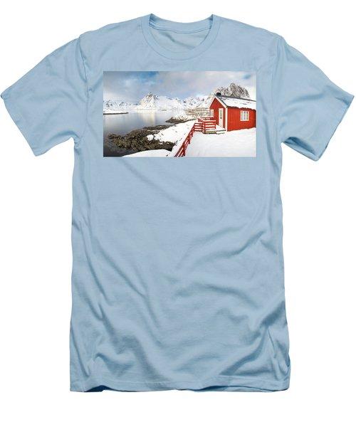 Winter Morning Men's T-Shirt (Slim Fit) by Alex Conu