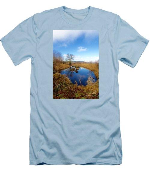 Winter Pond Men's T-Shirt (Slim Fit) by Sean Griffin