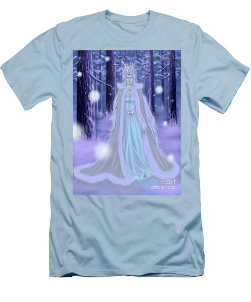 Winter Queen Men's T-Shirt (Slim Fit) by Amyla Silverflame