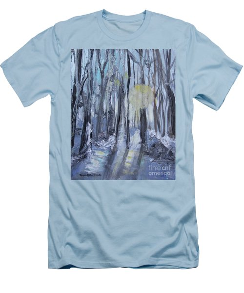Men's T-Shirt (Athletic Fit) featuring the painting Winter Sun by Robin Maria Pedrero