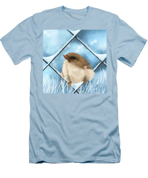 Men's T-Shirt (Slim Fit) featuring the painting Winter Sweetness  by Veronica Minozzi