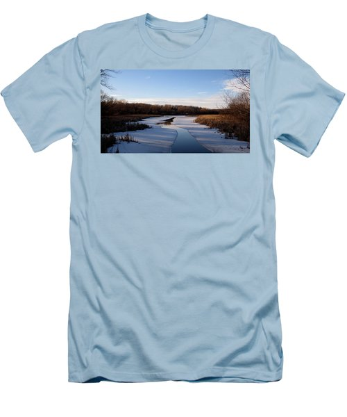 Winter Waters At Lake Kegonsa Men's T-Shirt (Slim Fit) by Kimberly Mackowski