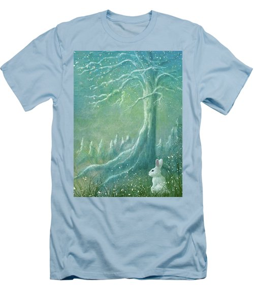 Men's T-Shirt (Slim Fit) featuring the digital art Winters Coming by Ann Lauwers