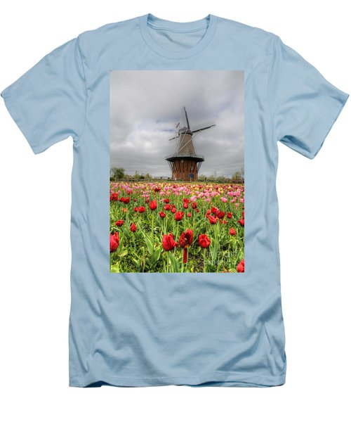 Men's T-Shirt (Slim Fit) featuring the photograph Wjndmill Island 2 by Robert Pearson