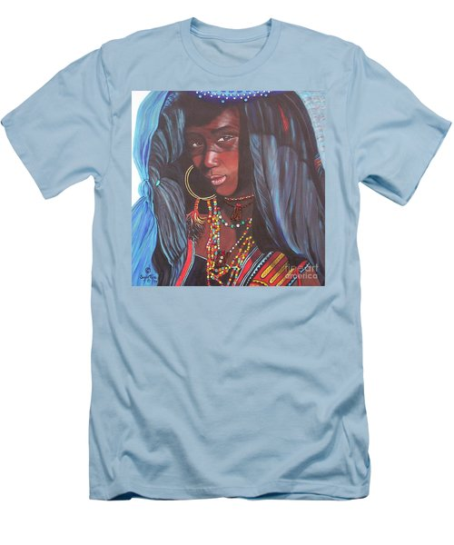 Men's T-Shirt (Slim Fit) featuring the painting Wodaabe Girl by Sigrid Tune