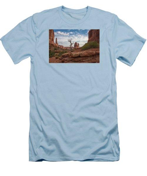 Wonders Along Park Avenue Men's T-Shirt (Slim Fit) by Darlene Bushue