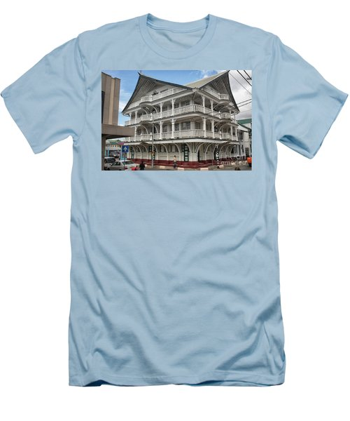 Wooden House In Colonial Style In Downtown Suriname Men's T-Shirt (Athletic Fit)