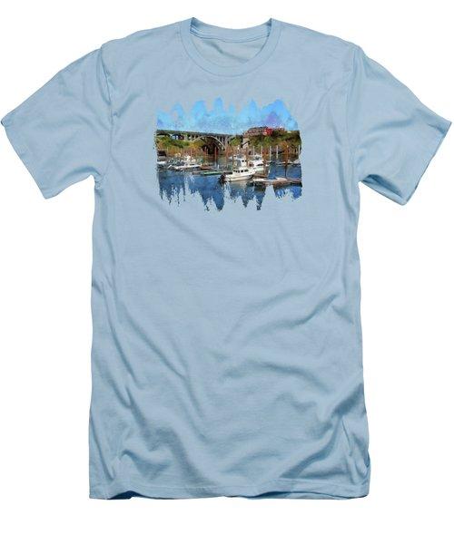 Worlds Smallest Harbor Men's T-Shirt (Athletic Fit)