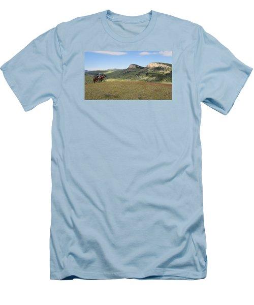 Wyoming Bluffs Men's T-Shirt (Slim Fit) by Diane Bohna