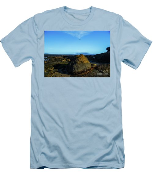 Men's T-Shirt (Athletic Fit) featuring the photograph Yanakie Rocks by Angela DeFrias