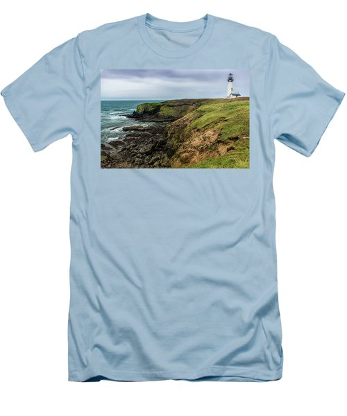 Yaquina Head Light Men's T-Shirt (Athletic Fit)
