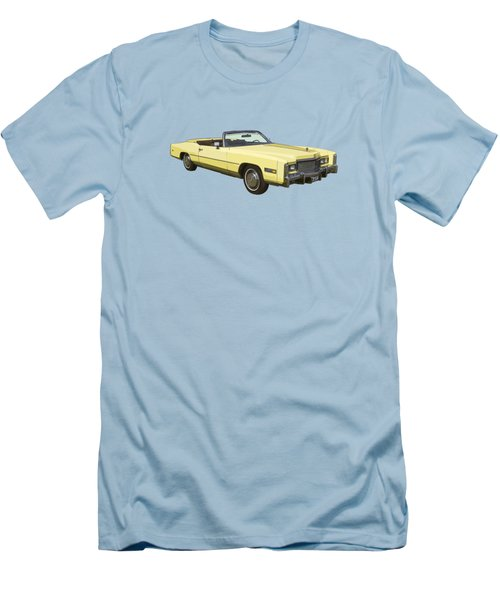 Yellow 1975 Cadillac Eldorado Convertible Men's T-Shirt (Slim Fit) by Keith Webber Jr
