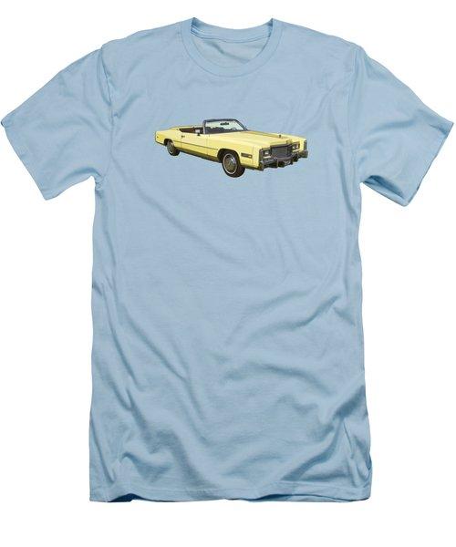 Yellow 1975 Cadillac Eldorado Convertible Men's T-Shirt (Athletic Fit)