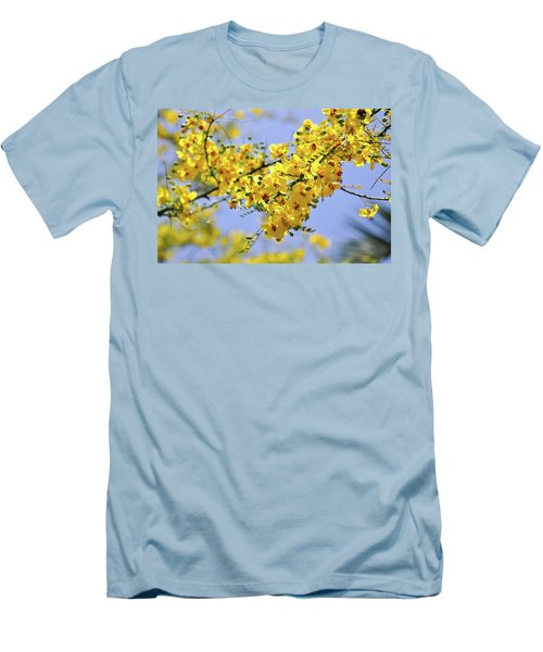 Yellow Blossoms Men's T-Shirt (Slim Fit) by Gandz Photography
