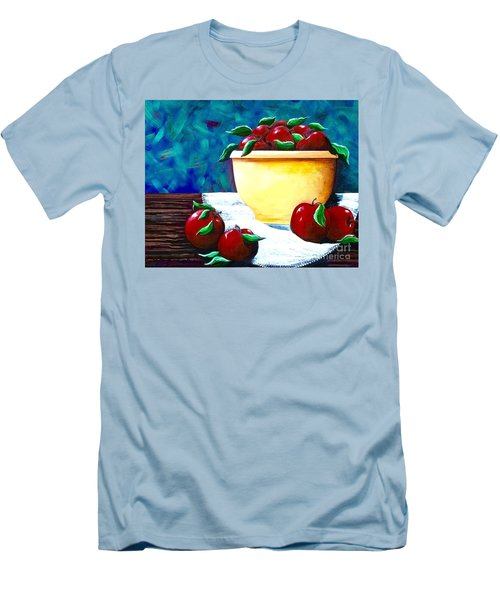 Yellow Bowl Of Apples Men's T-Shirt (Athletic Fit)