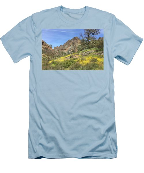 Men's T-Shirt (Slim Fit) featuring the photograph Yellow Carpet by Art Block Collections