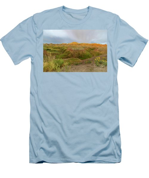 Yellow Mounds Morning Men's T-Shirt (Athletic Fit)