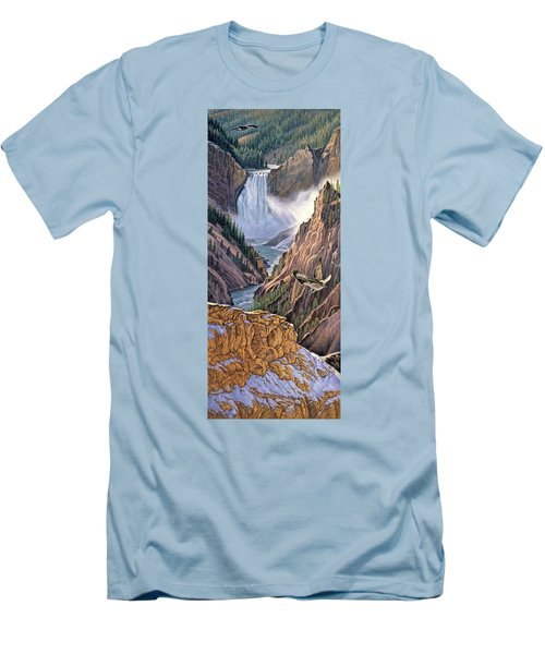 Yellowstone Canyon-osprey Men's T-Shirt (Slim Fit) by Paul Krapf